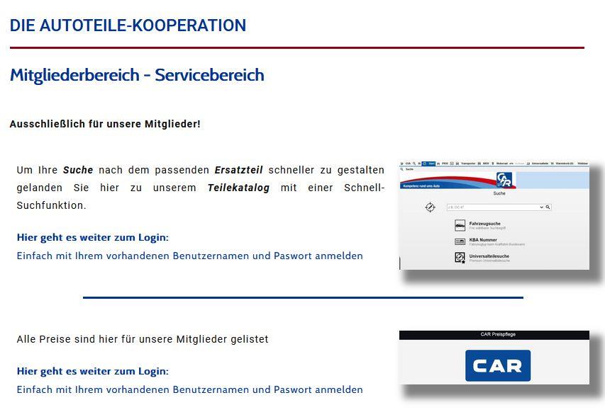 news-mitgliederbereich – carxma – Die Autoteile-Kooperation